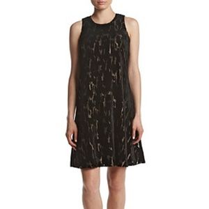 Calvin Klein Goldtone Pattern A-line Dress 6
